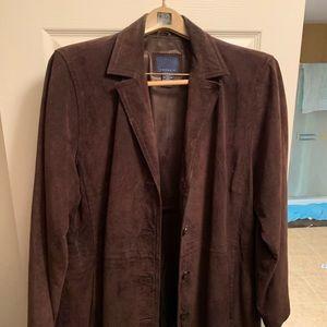 Brown suede women's jacket